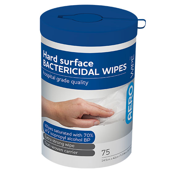Hard Surface Bacterial Wipes