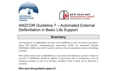 Automated External Defibrillation in Basic Life Support – (ARC Guidelines) ANZCOR Guideline 7