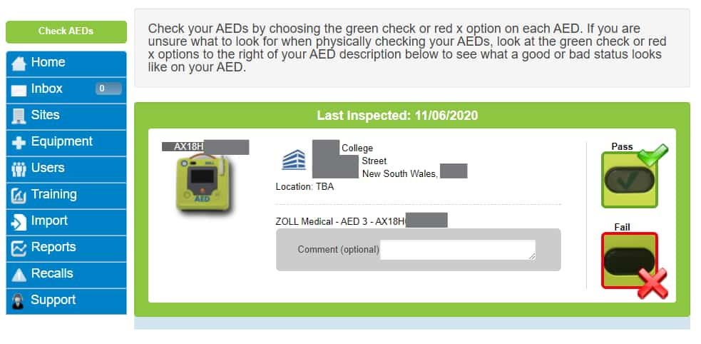 AED Management ZOLL PlusTrac